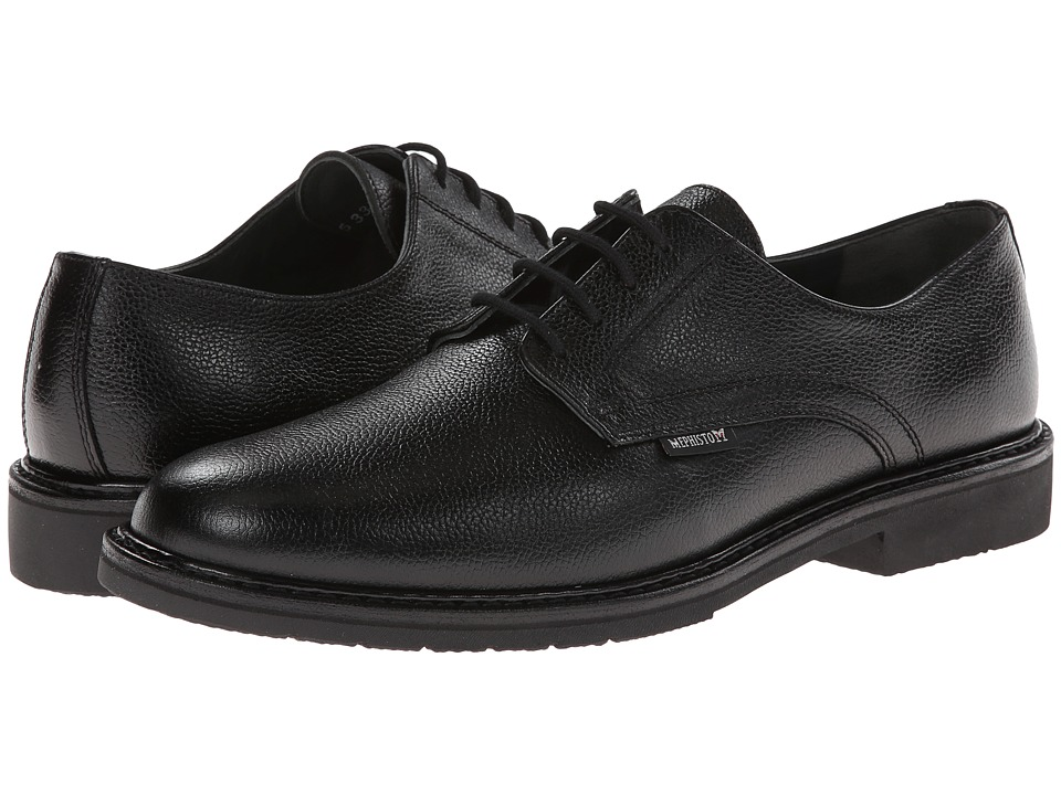 Mephisto Black Leather Mens Dress Shoes